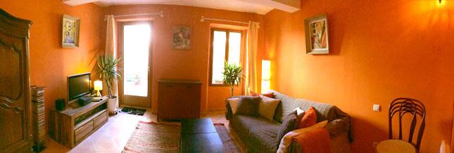 Maison Jaune - Vue panoramique du salon